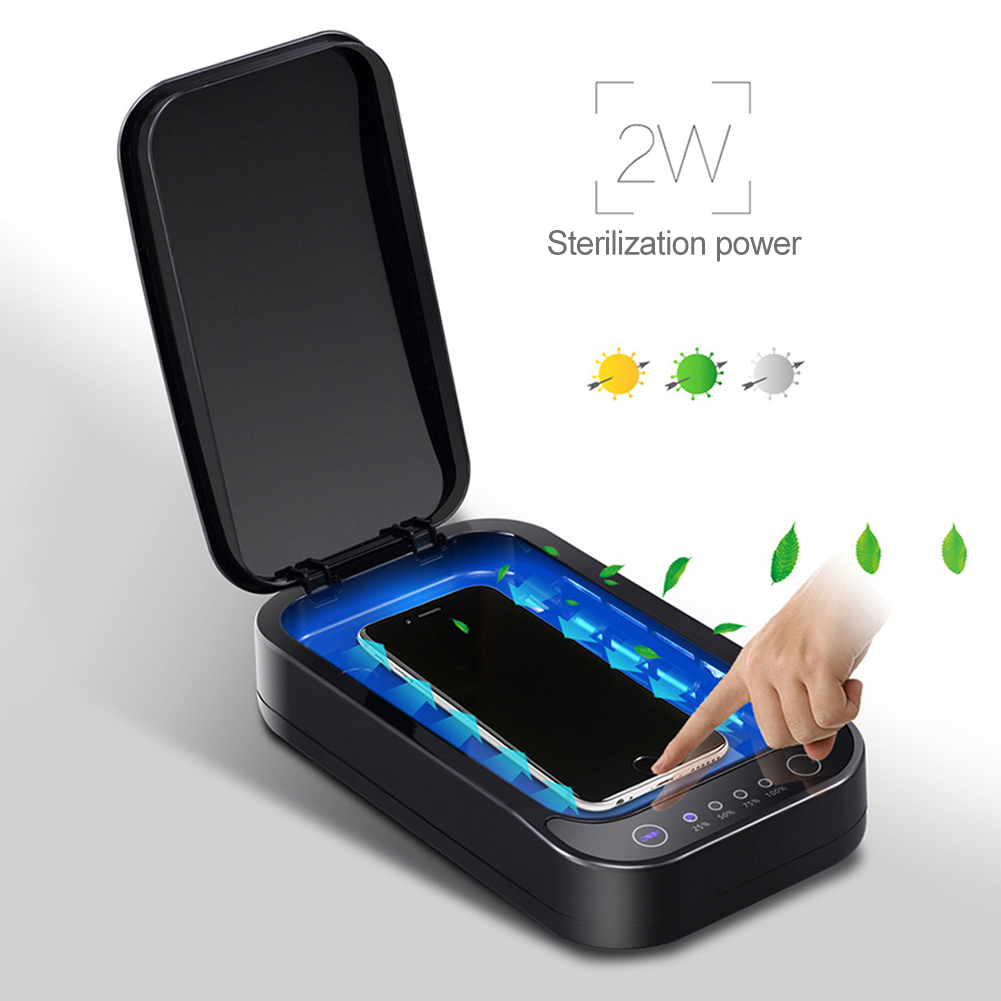 Multi-function Sterilizer Box Jewelry Watch Phone Cleaner Disinfection Clean Touch Voice Broadcast Disinfection UV Sterlizer Box