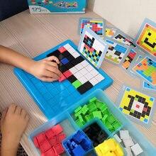 Montessori criativo mosaico quebra-cabeça brinquedos crianças pixel diy puzzle blocos conjunto de aprendizagem educacional brinquedos para o presente desenvolvimento do miúdo