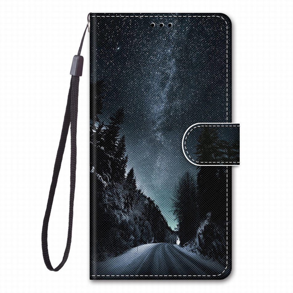 Card Pocket Kids Leather Case For LG K20 K30 2019 K40S K50S Q70 X2 Book Style Phone Bag Footprint Cat Tiger Wolf Girl Coque P08F