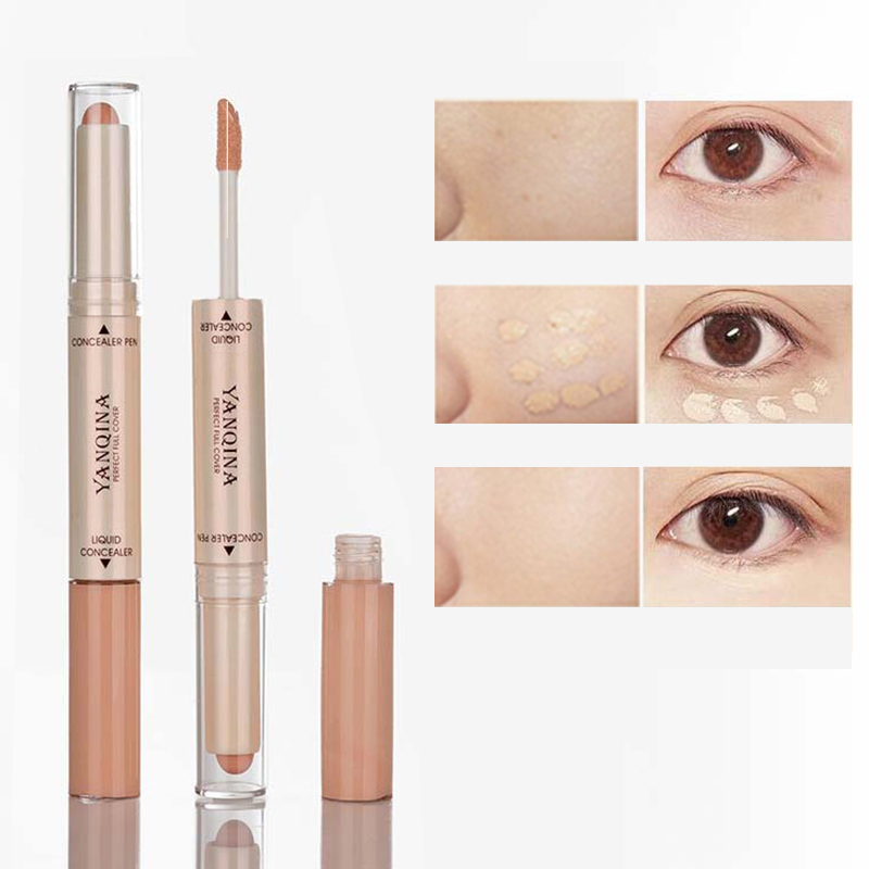 Double Head 2 In 1 Liquid Concealer makeup Foundation Full Cover contouring Dark Circles face Corrector Soft Face Eyes Cosmetic image