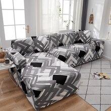 funda sofa elasticadas fundas de sofá en forma de L para sala de estar cubre chaise lounge sofa Spandex barato cubierta de sofá por secciones 1/2/3/4 plazas elastica fundas sofas de dos y tres plazas 3 plaza