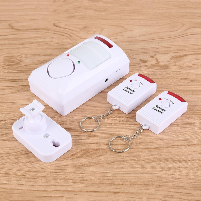 Alarm Wireless PIR Motion Sensor Detector With 2 Remote Controls Door Window For Home Shed Garage Carvan Alarm Security