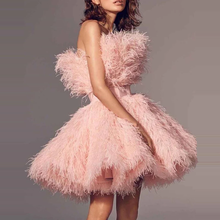2020 Short Homecoming Dresses Cute Pink Tassels Puffy With Waistbelt Strapless Open Back Special School Pageant Event Wear