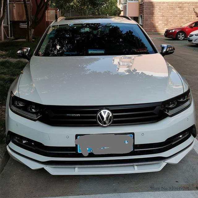 For Volkswagen Passat B8 Variant Arteon 2016-2020 Silver Black Exterior Headlight Eyebrow Cover Trims Front Light Lamp Frames 3