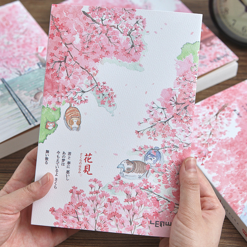 Sketchbook Vintage Stationery Notebook Chinese Style Blank Thicken Sketch Book A5 Painting Graffiti Diary Planner Agenda Notepad