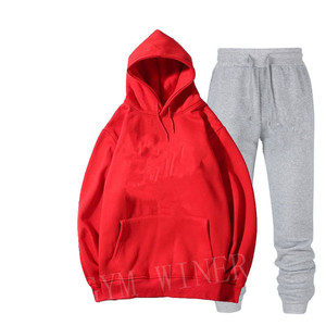 Image 4 - Mens and womens unisex 2 piece hooded trousers sportswear pullover sweatshirt trousers 2 piece sportswear suit