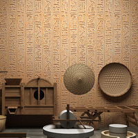 3D Ancient Wall Stickers Times Egypt Living Room TV Background Wallpaper 3d Stone Photo Murals Wall paper Bedroom Wall Stickers