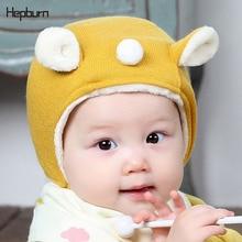 Hepburn Brand Children Hats Kids Elf Striped Baby Girl/Boy Winter Soft Warm Cotton Knitted Beanie Newborn Cap