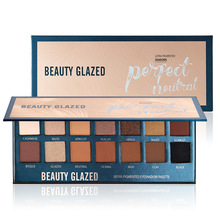 BEAUTY GLAZED 14 Color Eyeshadow Palette Powder Natural Eye Shadow Pallete Pigmented Makeup Palette DHL shipping