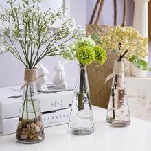 Непромокаемая Цветочная композиция ваза стеклянная прозрачная Цветочная вставка простое Европейское Творческое Оформление рабочего стола