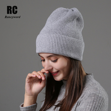 [Rancyword] Winter Hats For Women Wool Knitted Angora Hat Beanies Female Warm Ra