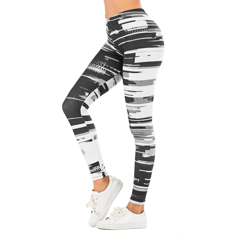 Brand Sexy Women Legging leaf Printing Fitness leggins Fashion Slim legins High Waist Leggings Woman Pants 16