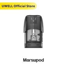 عبوة Vape Pod القابلة لإعادة الملء من UWELL MarsuPod تحتوي على 5 عبوات 1.2 أوم مناسبة لمجموعة أدوات PCC من MarsuPod مُبخر للسجائر الإلكترونية مقابل كاليبورن