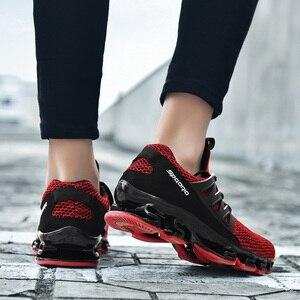 Image 3 - Big Size 36 48 letnie męskie trampki moda wiosna buty outdoorowe męskie obuwie męskie wygodne buty z siatką dla mężczyzn