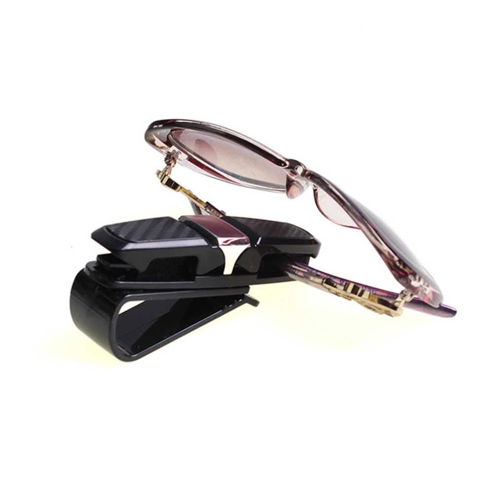 נייד רכב מגן שמש משקפי שמש מחזיק אוטומטי אטב משקפיים קליפ משקפיים מכונית קליפ כרטיס כרטיס מהדק ABS רכב משקפיים Stand