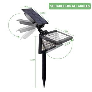 Image 2 - T SUN 50 leds Solar Garden Lights Adjustable led Outdoor Solar Lamp IP44 Waterproof Wall Lighting for Garden Decoration Light