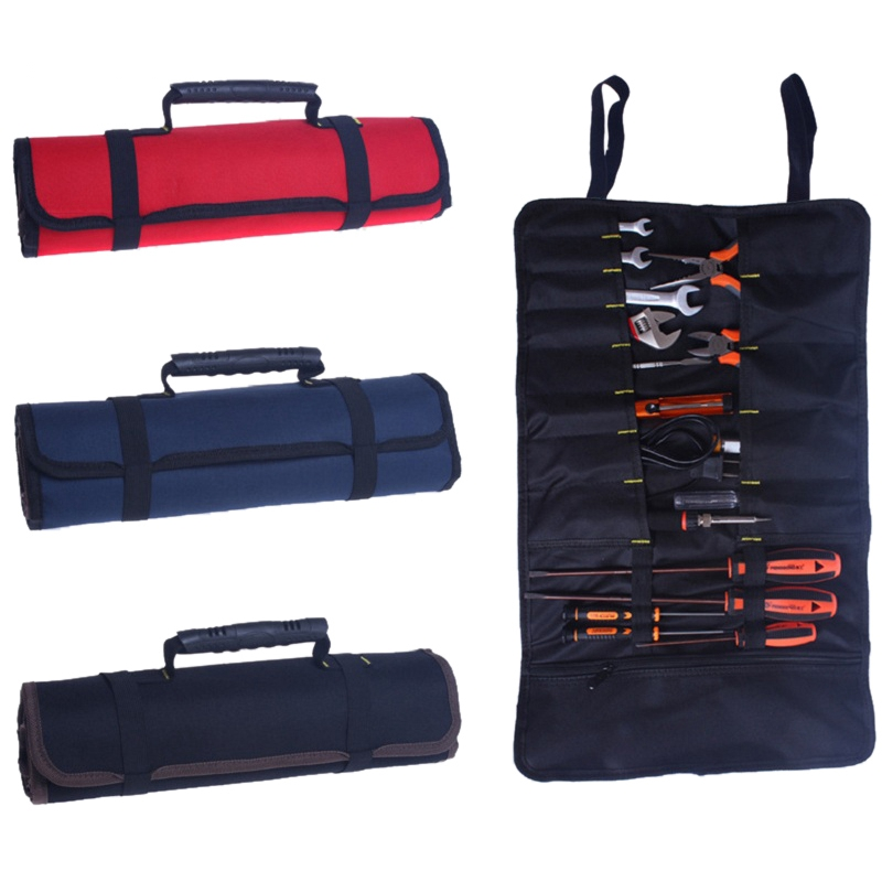 Junejour Electricians Organizer Tool Bag Reel Rolling Pouch Professional Multi-purpose Car Repair Kit Bag
