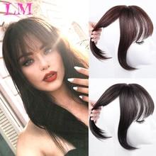 Fake Hair Wig Hair-Accessories Synthetic-Hair-Bangs 3d-Bangs Clip-In Heat-Resistant Women's