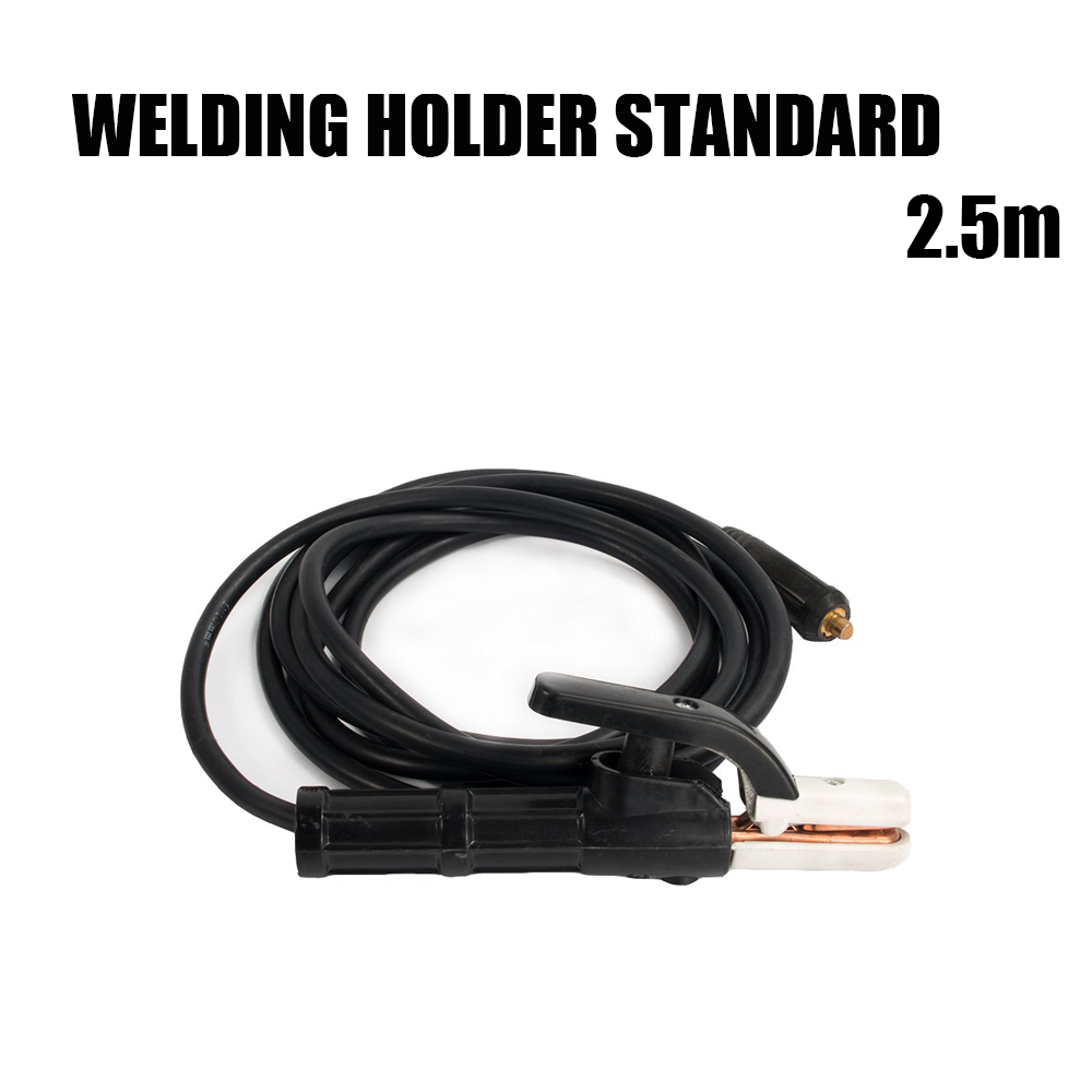 2.5M Standard Welding Electrode Holder 300Amp Manual MMA Arc Welding 10-25mm Connector And Lead Cable