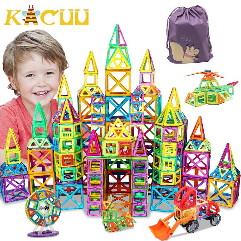 32-262 pièces bricolage magnétique constructeur Triangle carré grandes briques magnétiques blocs de construction concepteur ensemble aimant jouets pour les enfants