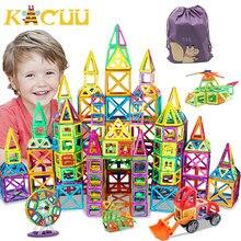 32-262pcs DIY konstruktor magnetyczny trójkąt kwadratowe duże klocki klocki magnetyczne projektant zestaw magnes zabawki dla dzieci