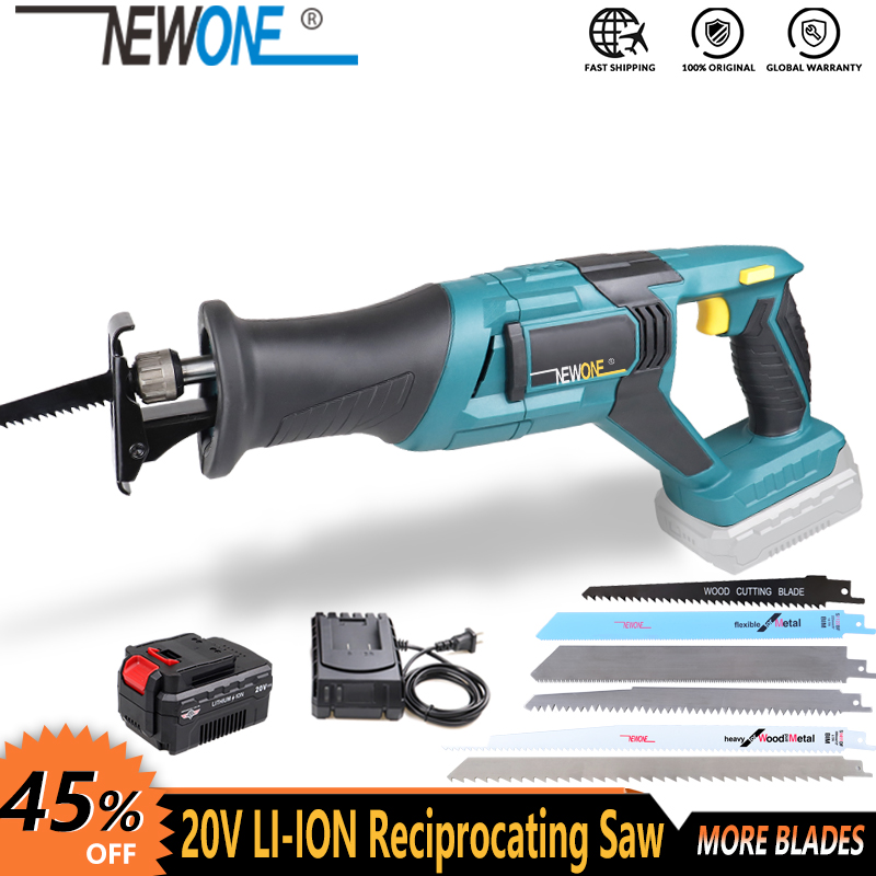 20V cordless lithium battery reciprocating saw wood/metal cutting saw saber saw portable electric saw rechargeable power tool