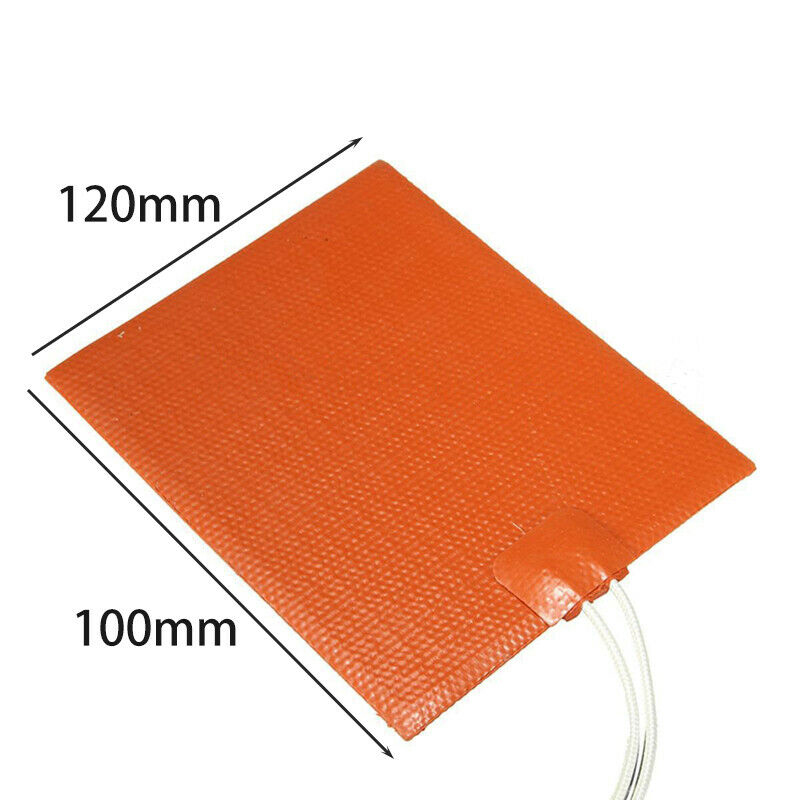 12V 12W Silicone Heating Mat Flexible Waterproof For Printer Bed Electric Pad