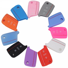 Jingyuqin for Volkswagen VW Golf 7 mk7 Skoda Octavia A7 Silicone Car Key Portection Case Cover Shell 1pc per set car accessories