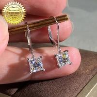 18K Gold earring A pair of earring 1CT D Color Moissanite Earrings For Women