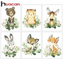 Huacan Diamant Malerei Volle Tier Diamant Mosaik Cartoon Owl Home Decor Stickerei Fuchs Diamant Kunst Wand Aufkleber