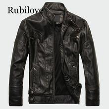 Rubilove Mens Leather Jackets High Quality Classic Motorcycle Bike Cowboy Jacket Male Plus Velvet Thick Coats Brand Clothing 5XL mens pu leather jacket male business casual coats thick coats slim clothes jackets men cowboy jackets classic motorcycle bike