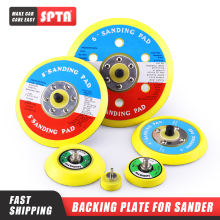 SPTA Backer Backing Plate Pad 2Inch/3inch/4inch/5inch/6inch Hook&Loop For Air Sander Car Polisher Buffing    Select Size