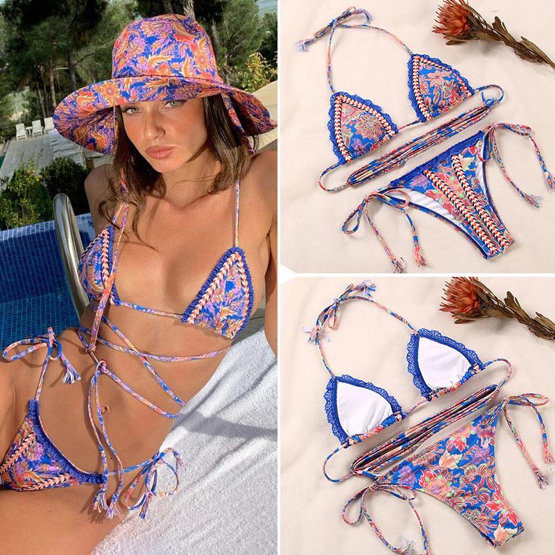 Sexy Bademode Frauen 2021 Bikini String Schwimmen Anzug Für Frauen Badeanzug Micro Falten Hight Cut Monokini Einem Stück Anzug