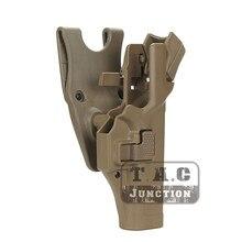 Pistolera táctica Serpa Nivel 3, con retención automática, cinturón de cintura para mano derecha, para Glock 17 19 22 23 31 32