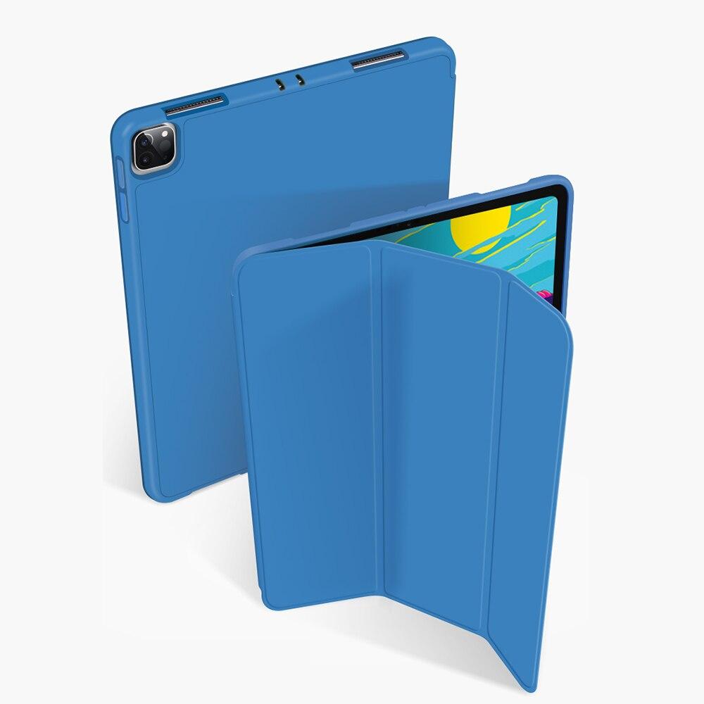 Capa with Silicone iPad Cover Generation-Multi-Fold Pro For Pencil-Holder Funda PU Wake-Face-Id