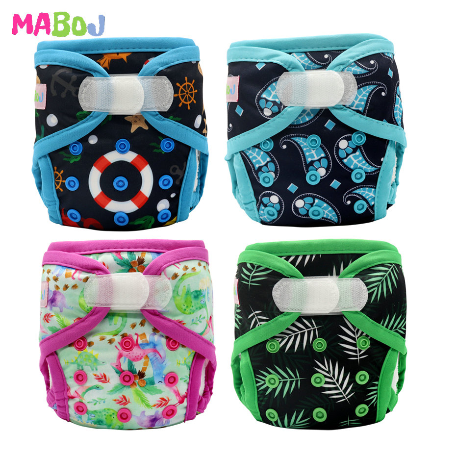 MABOJ Newborn Diaper Cover Hook Loop Cloth Diapers Baby Tiny Nappy Diapers Cover Washable Adjustable Nappies Reusable Wholesale