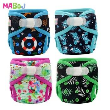 MABOJ Newborn Diaper Cover Hook Loop Cloth Diapers Baby Tiny Nappy Diapers Cover Washable Adjustable Nappies Reusable Wholesale блокнот 80л феникс а6 лавандовое поле клетка на спирали 45868
