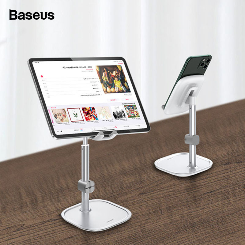 Baseus Mobile Phone Holder For IPhone 11 Pro 7 8 IPad Cable Organizer Adjustable Desktop Phone Stand For Samsung Xiaomi Huawei