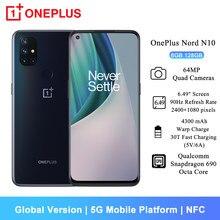 Versão global oneplus nord n10 5g telefone móvel 6gb 128gb 6.49