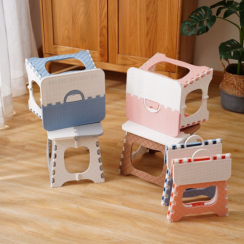 Folding Plastic Multi Purpose Step Stool Sturdy Seat Home Portable Camp Chair Strong Load Bearing Colorful Beautiful Kids Chairs