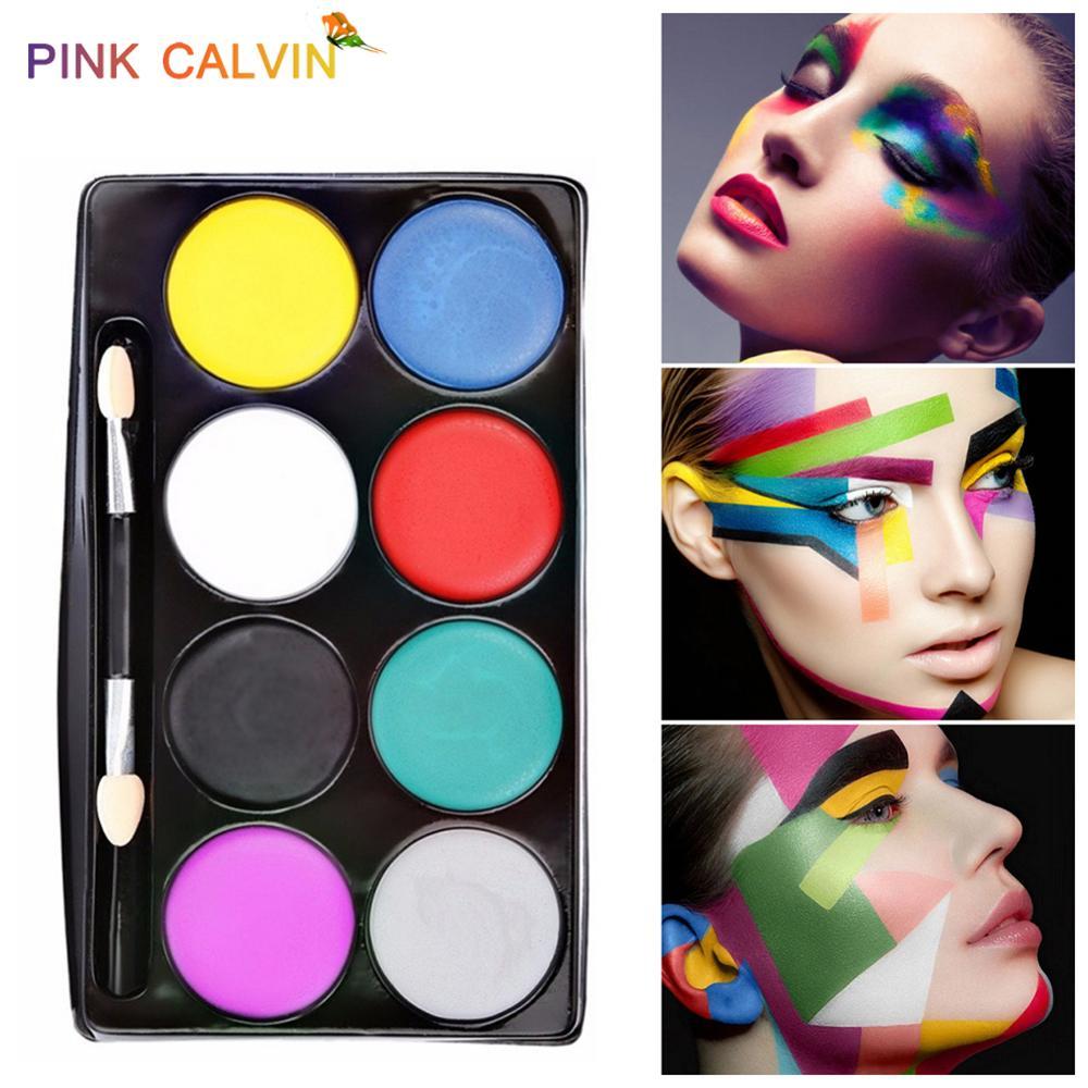 8 Colors Face Paint Halloween Makeup Body Art Paint Party Festival Schmink Non-toxic Washable Cosplay аквагрим Kids Face Paint