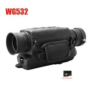 Image 5 - WG540 אינפרא אדום דיגיטלי ראיית לילה חד עיניות עם 8g TF כרטיס מלא כהה 5X40 200m טווח ציד משקפת ראיית לילה אופטיקה
