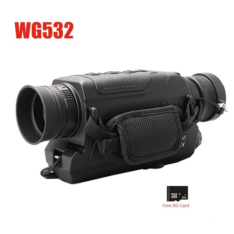 WG540 monoculaires de Vision nocturne numérique infrarouge avec carte 8G TF pleine obscurité 5X40 200M gamme optique de Vision nocturne monoculaire de chasse - 5
