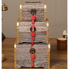 ¡Novedad de 2019! Alcancía clásica hecha a mano de madera, caja de monedas para niños con cerradura, caja de papel para dinero y monedas, cajas seguras para ahorrar dinero