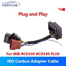 ISO Quadlock Adapter Cable W/ CANBUS Decoder Simulator Plug&Play RCD330 Plus For VW Golf VI Jetta 5 6 MK5 MK6 Passat Polo Vento iso advanced transparent curettage simulator urethral catheterization simulator