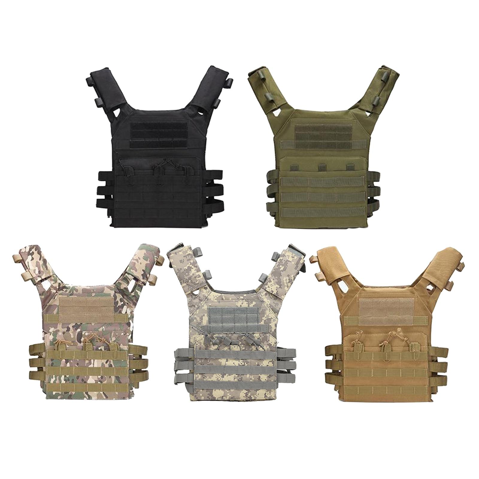 Tactical Molle Vest Vest for Unisex Adjustable Lightweight Vest Jacket for for Gaming Training