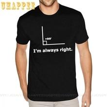 Customised Im Always Right Math Shirt Cotton For Men XXXL Black T-shirt