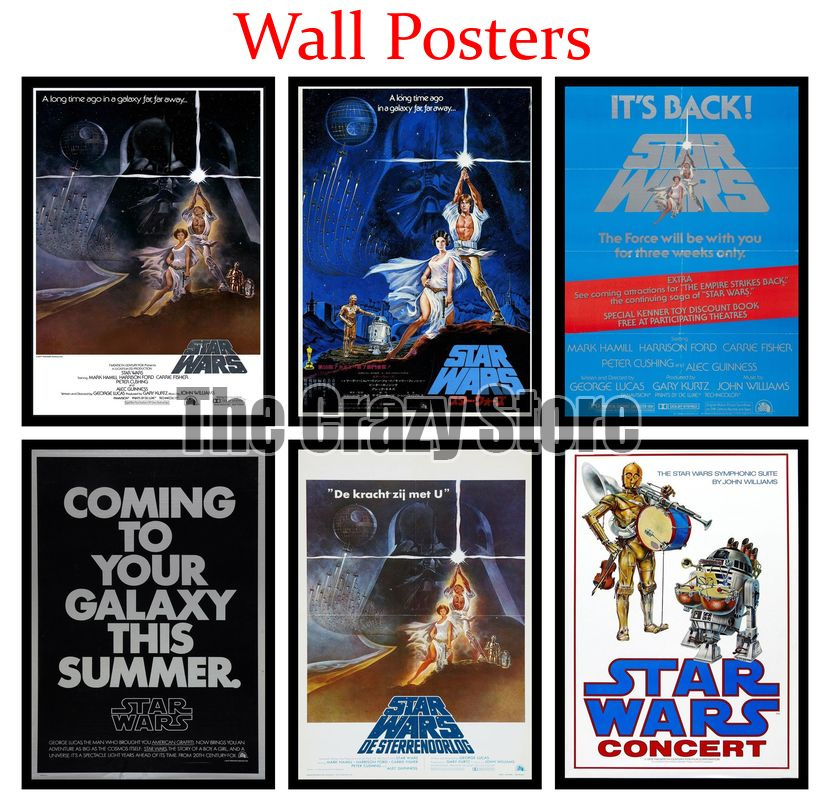 Star Wars Episode Iv A New Hope Film White Kraft Paper Poster Home Decor Painting Classic Prints 42x30cm Wall Stickers Aliexpress