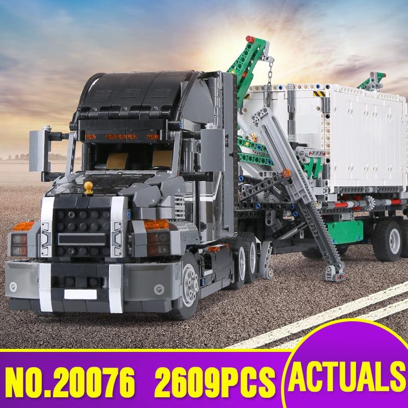 Von Spanien DHL 20076 Technik Auto Serie Die 42078 Mack Big Truck Set Bausteine Ziegel Pädagogisches Kinder Autos Spielzeug als Geschenk-in Sperren aus Spielzeug und Hobbys bei  Gruppe 1