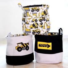 33*40cm Cute Car Laundry Basket Bag Folding Laundry Basket Large Capacity Clothes Storage Bag Children Toy Storage Bucket